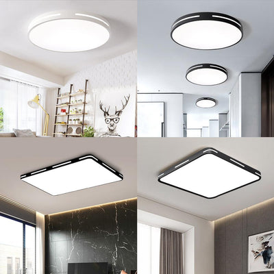 Modern LED Ceiling Light Lamp Lighting Fixture Surface Mount Flush Remote Control Dimmable 18W 48W Living Room Bedroom Balcony