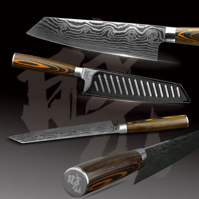 Stainless Steel Kitchen Knives Set  Chef Japanese Style