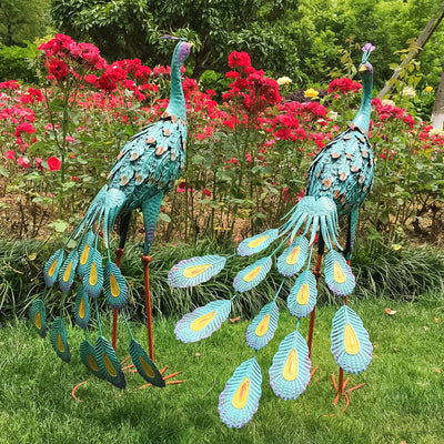 Peacock outdoor garden creative decoration
