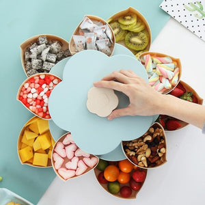Creative Double-layer Rotary Plastic Snack Candy Storage Box
