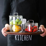 Nordic Heat-Resistant Glass Storage Jars with Cover
