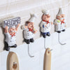 Kitchen Cartoon Shaped Hook Resin Powerful Adhesive Hanger