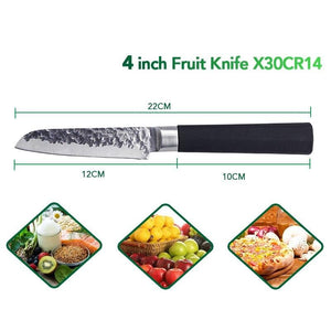 Multifunctional Japanese StyleNon-stick Kitchen Knife 4""