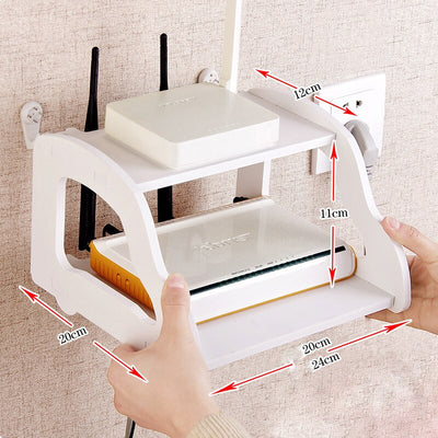 Router storage modeling wall shelf rack