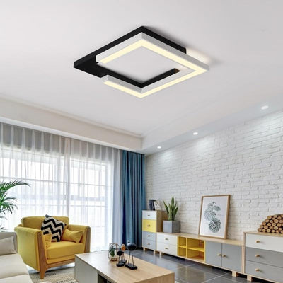 Square White+Black Ceiling Lights for Living bed Room