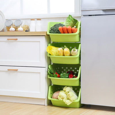 Durable Stackable Hollow Fruit Vegetable Basket Storage Box