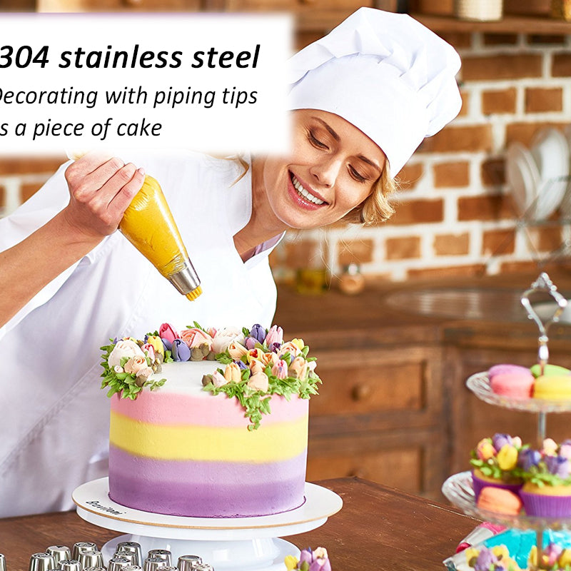DIY Rose Cake Stainless Steel Nozzle Decoration