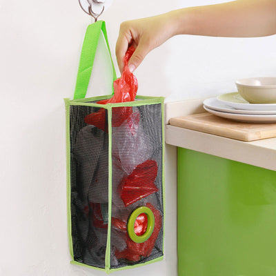 Hanging storage mesh bag