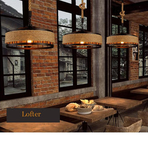 Retro loft chandelier ceiling hanging lamp