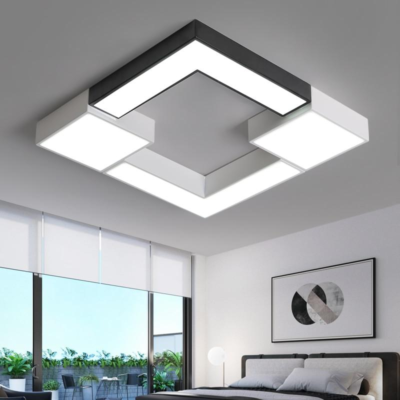 Square Metal Modern LED Ceiling Lights for Living room