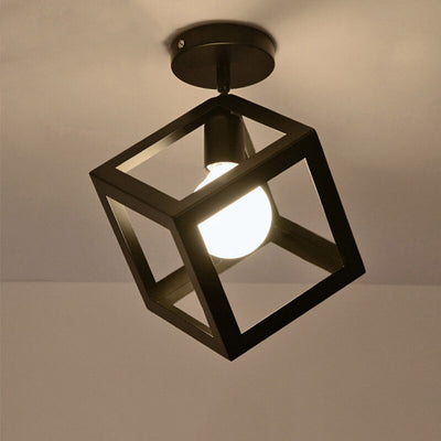 Nordic Style Black Balcony Ceiling Lighting Fixtures
