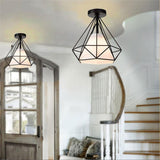 Nordic Style Creative Retro Vintage Industrial Rustic Flush Mount Light