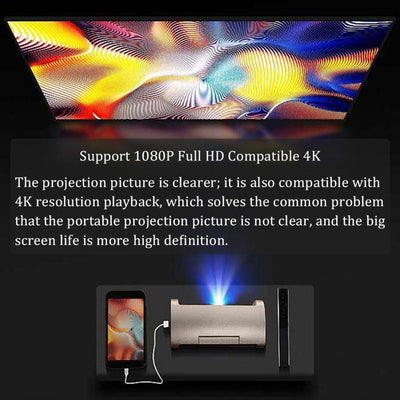 1080P Projector HDMI Home Theater for Apple/Android/IOS/PC video playback