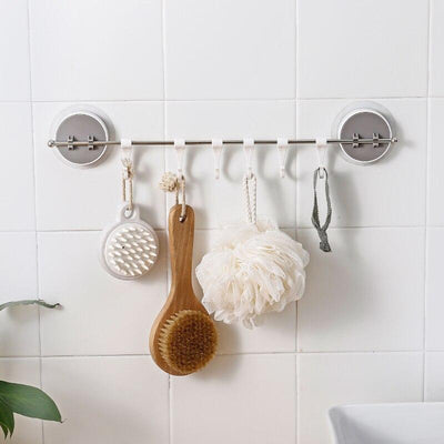 Wall Mounted Rack With 6 Hooks