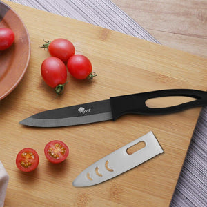 6 Inch Ceramic Knife Black Blade With Ergonomic Handle