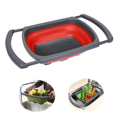 Collapsible Colanders Kitchen Strainer Drain Folding Baskets