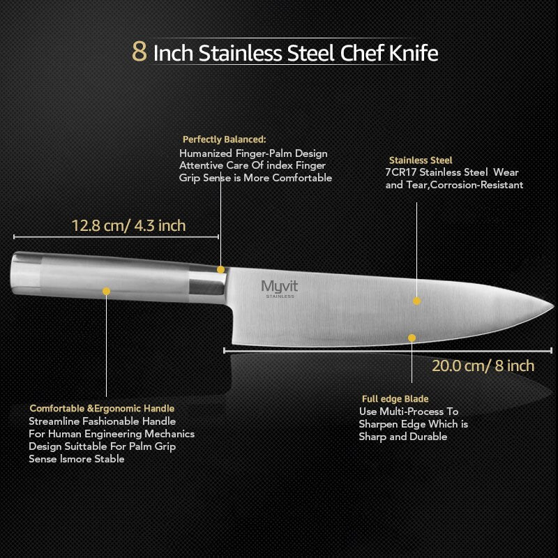 High Carbon Japanese  Santoku Chef Knives