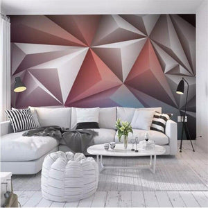 Modern 4D Gray Mural Bedroom Living Room Decorative Wallpapers