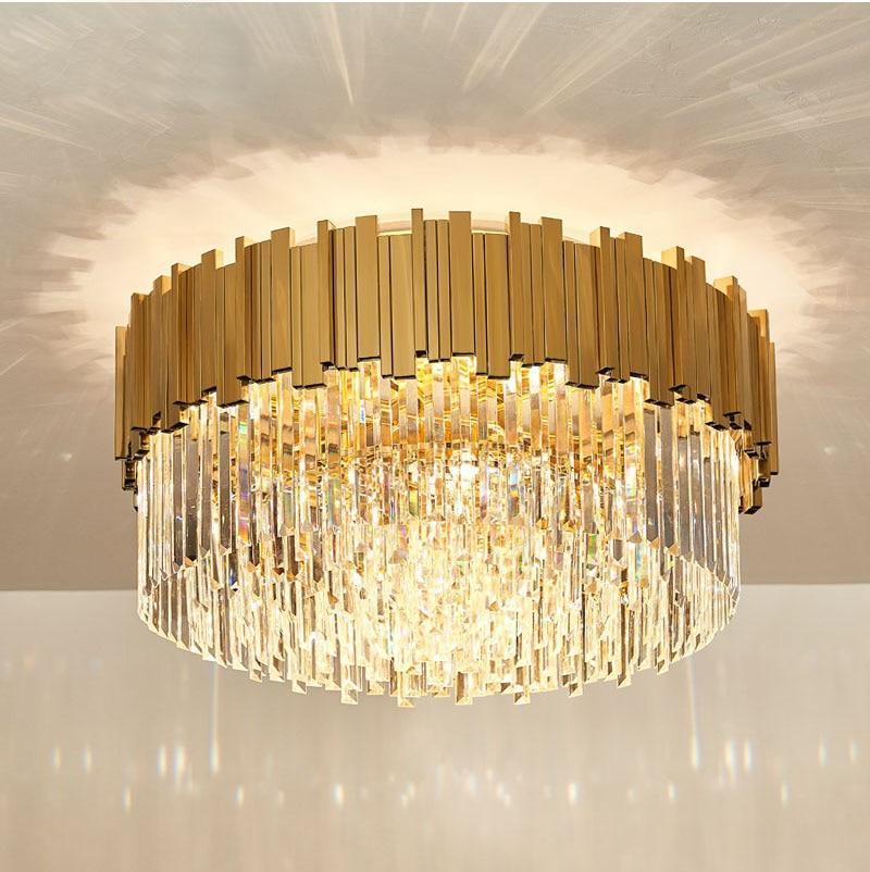Luxury Gold Crystal Ceiling Light