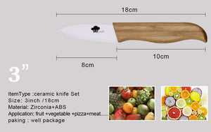 "Ceramic knife set kit includes 3"" 4"" 5"" 6"" knife+ Covers"
