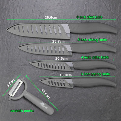 "Kitchen 3"" 4"" 5"" 6"" inch Ceramic Knives set"