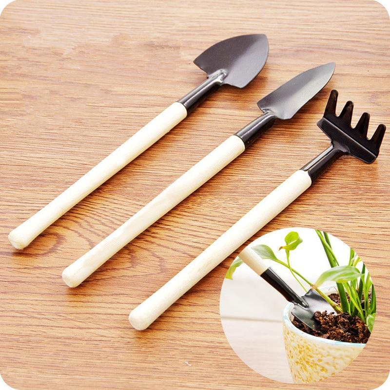 3 Pcs/set Mini Spade Plant Soil Shovels Gardening Tools
