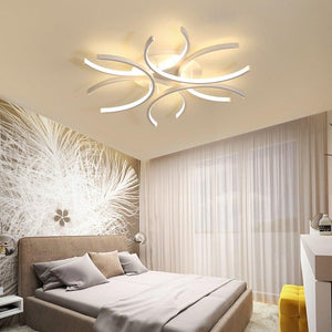 Wave White surface mounted Lustre lamp