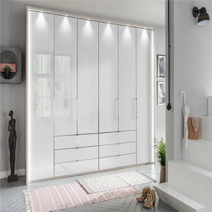 Mirrored Wardrobe Bedroom Design 3 Panel Sliding Doors Wardrobe Closet
