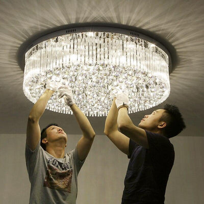 Luxury Hotel Villa Round ceiling crystal lamp