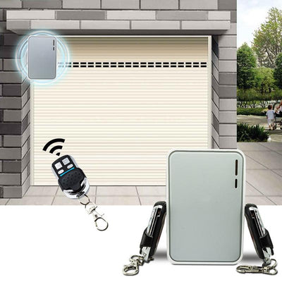 Wireless garage door controller with 2 remote receivers
