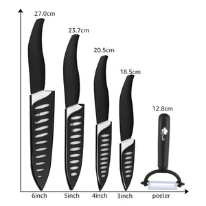 Ceramic Kitchen Knives Set 3 4 5 6 inch +Peeler | Chef Cooking Tool