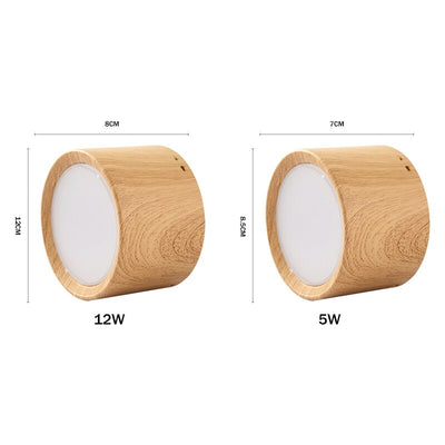Nordic Wood Surface Mounted Ceiling Spot Light