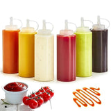 Squeeze Squirt Condiment Bottles with Twist-On Cap