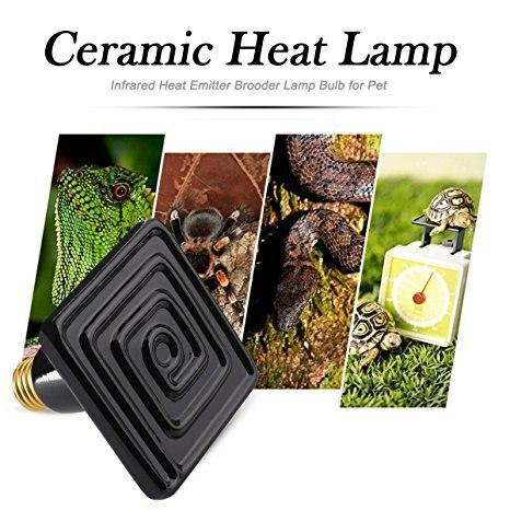 Ceramic Heat Emitter Reptile Pet Bulb Crawling Light