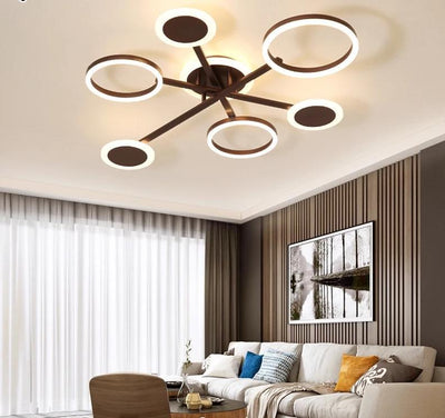 White coffee Color Circle ceiling mounted indoor lamps