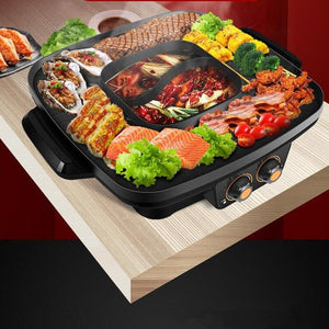 220V Multifunctional Electric Smokeless Non-stick BBQ Barbecue Grill