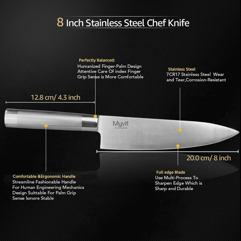 Japanese Santoku Chef Knives  Set