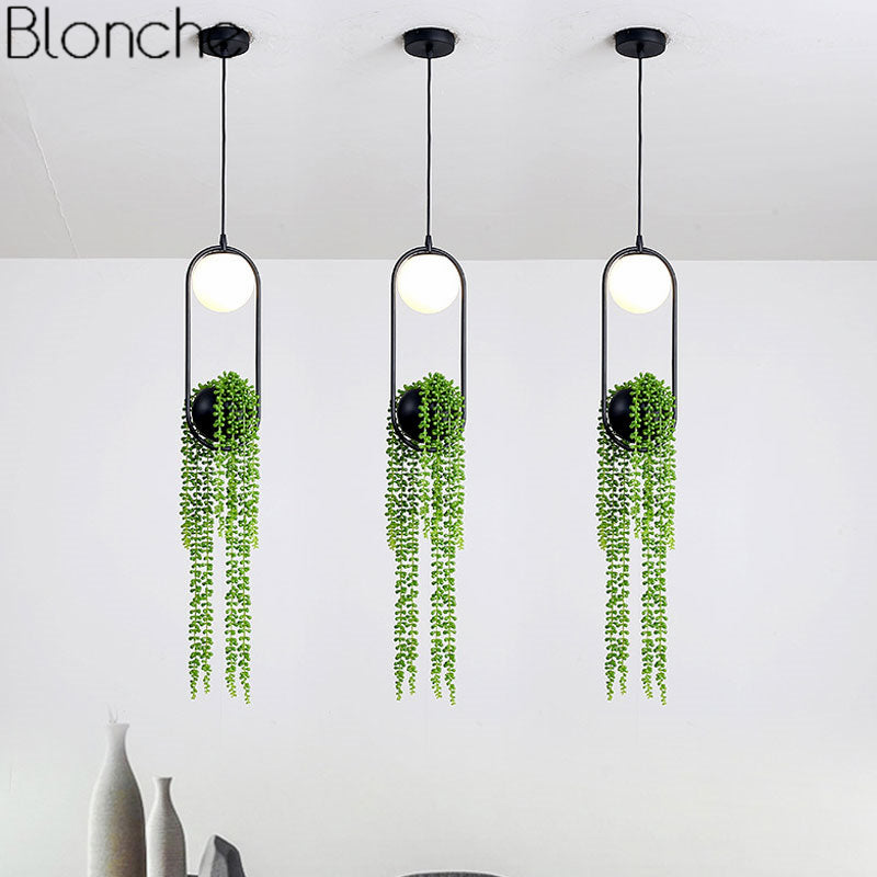 Nordic DIY Plant Pendant Lighting Fixtures