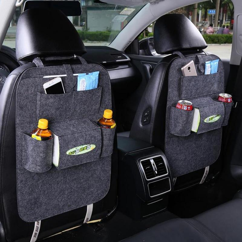 1PC Auto Car Back Seat Storage Bag Organizer