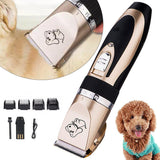 Rechargeable Low-Noise Pet Hair Clipper Remover Cutter