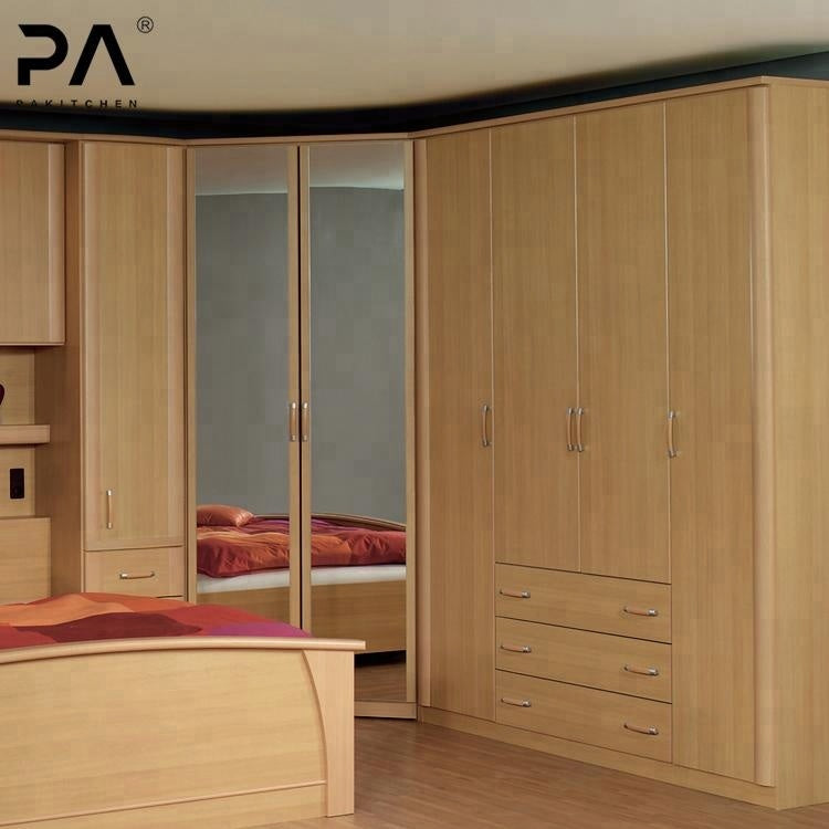 Bedroom furniture custom type corner wardrobe closet design