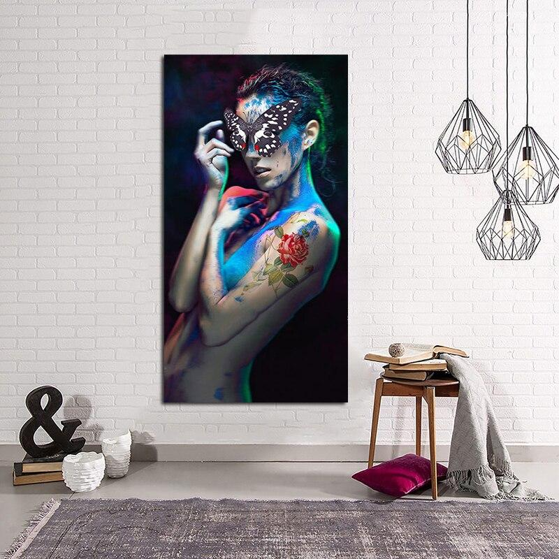 Canvas Painting Abstract Nude Art Tattoo