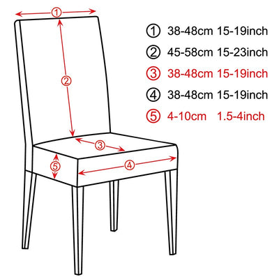 4/5/6 Pieces Stretch Big Elastic Chair Covers