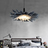 Nordic Creative Grey Feather Pendant Lights