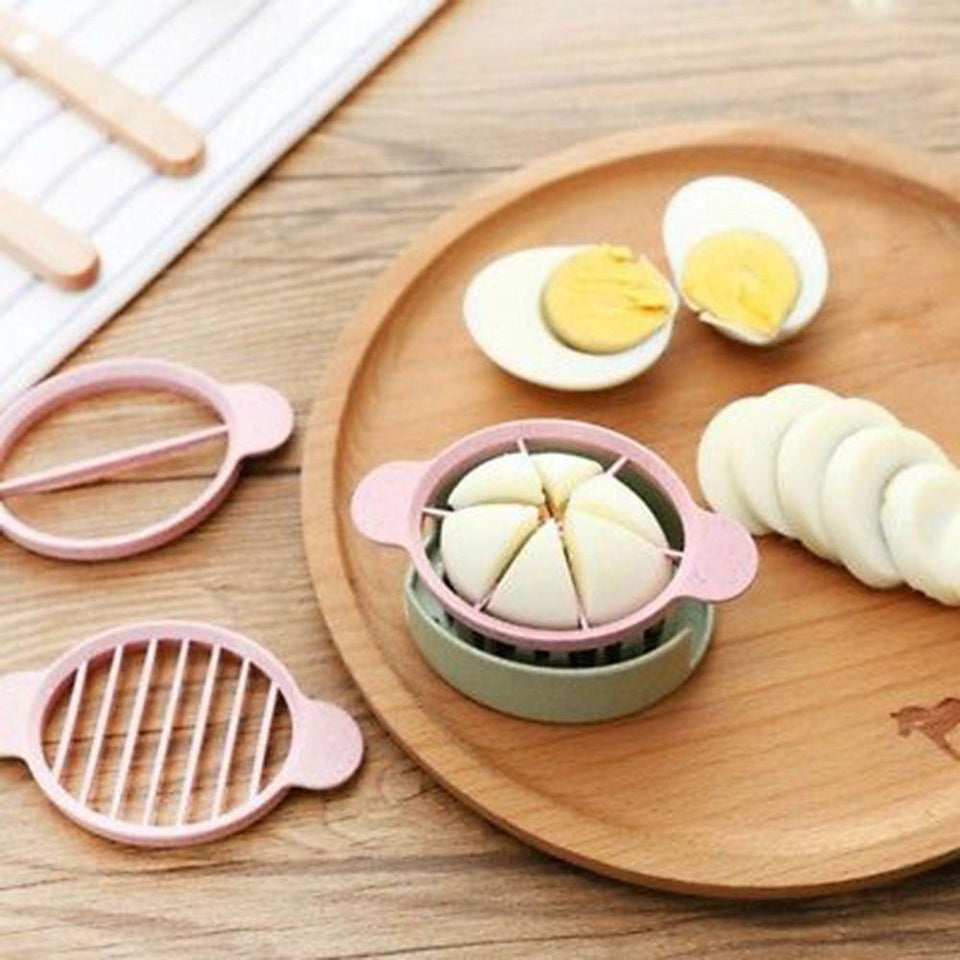 3in1 Wheat Straw Egg Slicer  Cutter