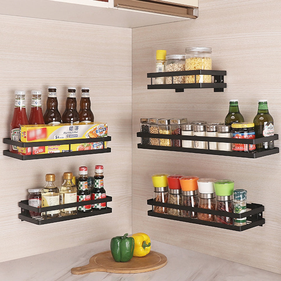Wall Storage Shelf For Spice Jar Rack
