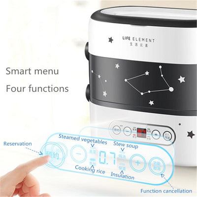 Smart Electric Double Layer Automatic Heating Lunch Box