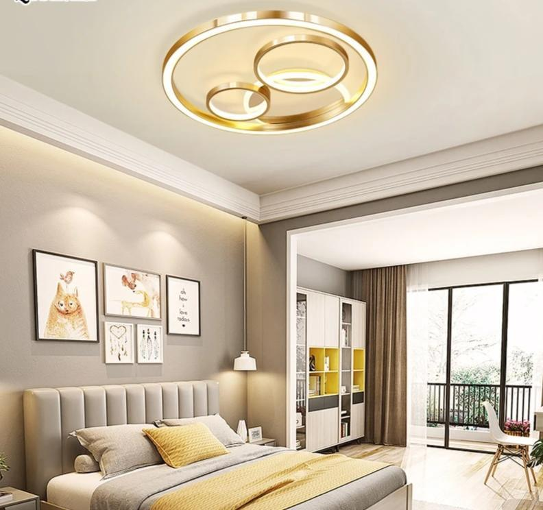 Gold Modern LED Indoor Lighting Fixture