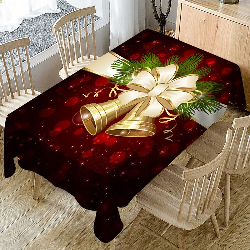 Christmas Tablecloth High Quality Polyester Proof-water Tableclothes Rectangular Round Banquet Wedding Party Hotel Decoration