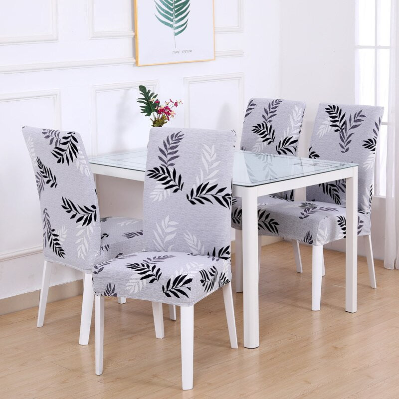 4/5/6 Pieces Stretch Chair Seat Slipcovers
